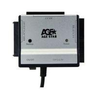Переходник USB - SATA+IDE AgeStar FUBCA, серебр., Rtl