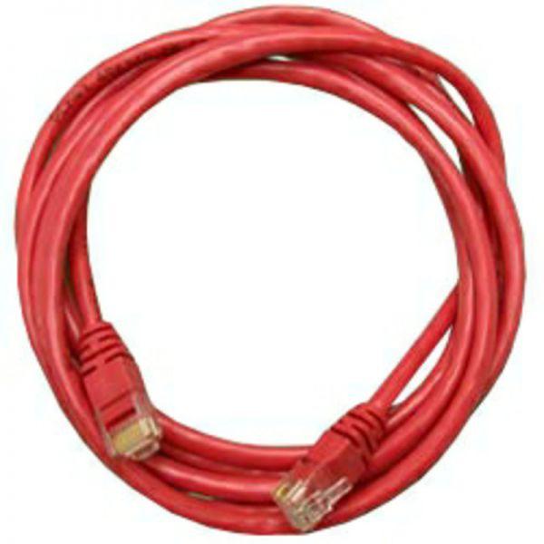 Сетевое оборудование. Патч-корд Patchcord литой 5E 3m, red. Компьютерная