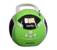 Порт. аудиосистема Perfeo Music Ball 6-in-1 (PF-MSI32GR), 2х3Вт, FM, MP3, USB, SD, Line In/Out, пульт, диктофон, будил., календ., зеленый