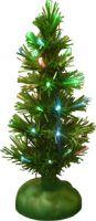 Новогодняя зеленая елка с мерцающими огоньками, USB, 25 см